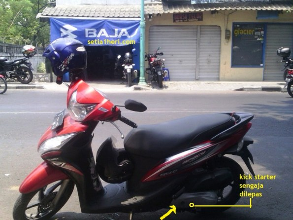 Honda Spacy tanpa kick starter