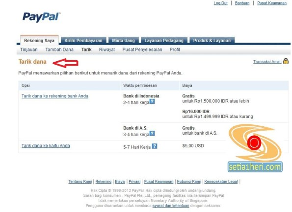 proses withdraw paypal