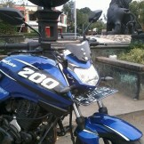 pulsar dengan headlamp customize
