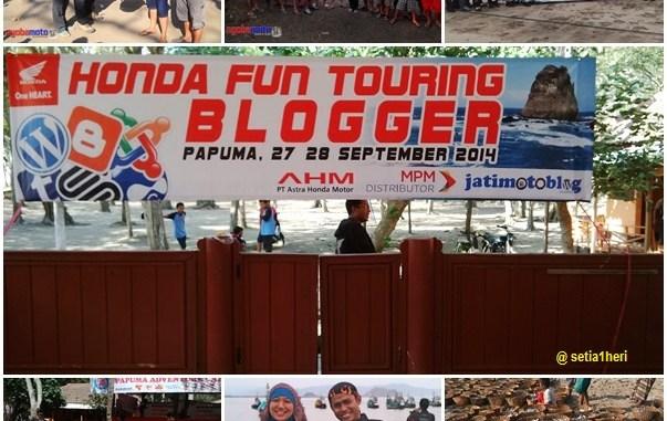 Honda Fun Turing blogger 2014 di Papuma Jember