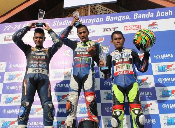 Podium YCR 2 (Moped 110 cc Tune Up Seeded + Open Class Injeksi) Seri 2 Yamaha Cup Race di Aceh