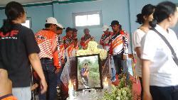 Jenazah Popo pegiat trail Jogjakarta