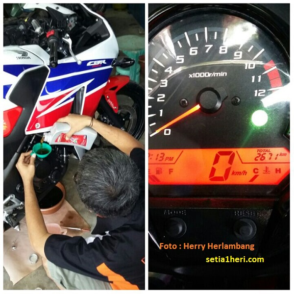 Oli Diesel Pertamina Fastron Diesel pada Honda CBR 250