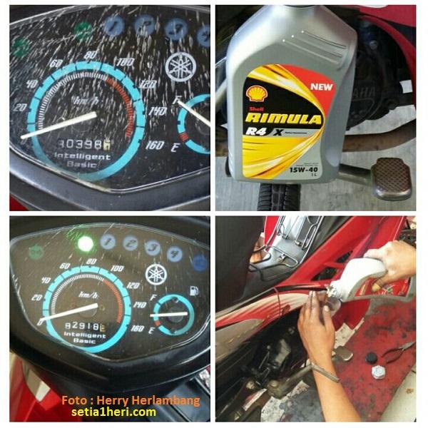 Review Oli Diesel Shell Rimula RX 4 pada Yamaha Vega tahun 2006