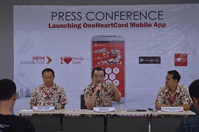 peluncuran One Heart Card Mobile Apps di Kota Surabaya tahun 2015 oleh PT MPM Distributor Honda