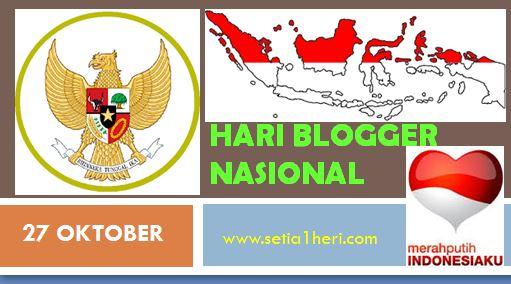 Hari Blogger Nasional tanggal 27 Oktober
