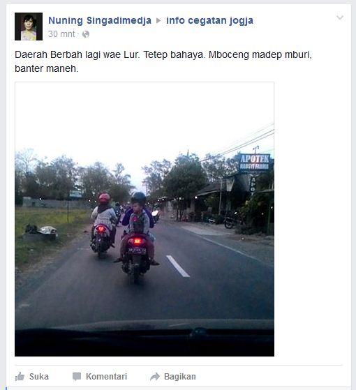 bahaya bonceng anak naik motor hadap belakang