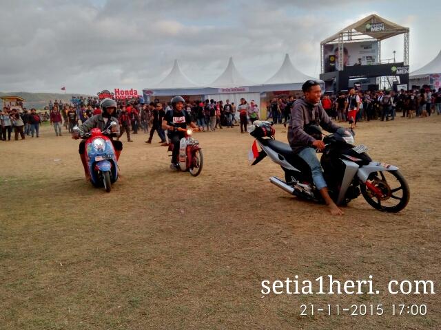 komunitas motor ceper Honda ramaikan Honda Bikers Day 2015 Pacitan