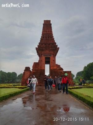 Jatimotoblog di Candi Bajang Ratu Mojokerto 2015