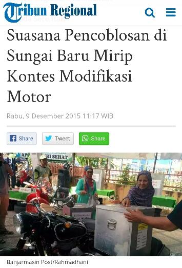 TPS bertema otomotif di Banjarmasin, Kalimantan Selatan tahun 2015