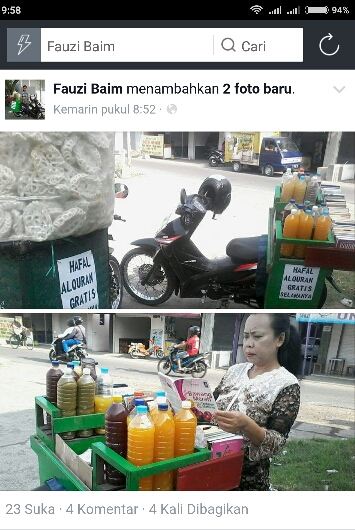 hafal al-qur'an gratis minum jamu dari fauzi baim sidoarjo