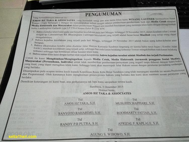 iklan pengacara lamborghini maut di jawa pos 3 desember 2015