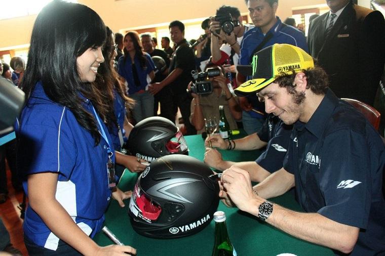 Valentino Rossi saat jumpa fans di Jakarta tahun 2013