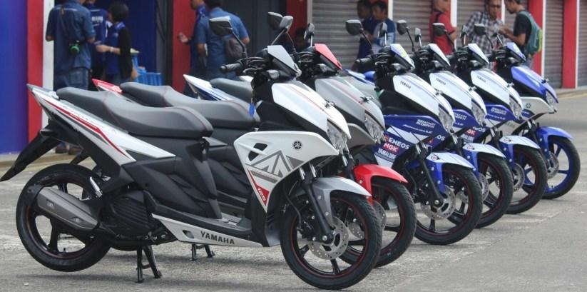 Yamaha Aerox 125LC standard dan paddock bike resmi Yamaha Racing Indonesia Team 2016