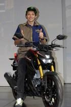 Yamaha Xabre ditunggangi Valentino Rossi pada peluncuran di Bali tanggal 26 januari 2016 (1)
