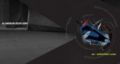 Yamaha Xabre menggunakan arm aluminium