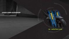 Yamaha Xabre menggunakan shockbreaker tipe USD alias upside down