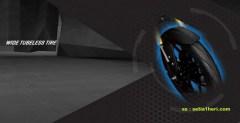 Yamaha Xabre sudah memakai ban tubeless yang lebar