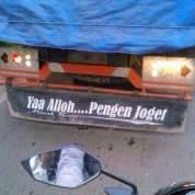 kumpulan tulisan lucu di pantat truk Pantura dan Indonesia tahun 2016~06