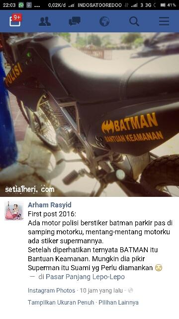 motor Batman di Kendari punya pak polisi