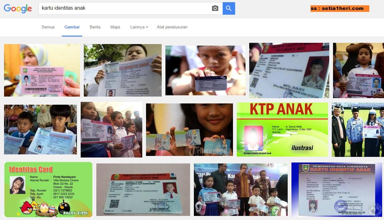 Kartu Identitas Anak berlaku tahun 2016 di Indonesia