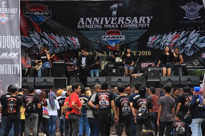 Keramaian komunitas di Jambore Nasional pertama Indonesia Max Owners (IMO) dan Ultah pertama Bandung Nmax Community (BNC) (2)