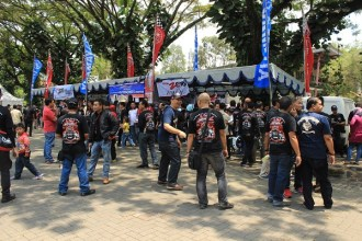 Keramaian komunitas di Jambore Nasional pertama Indonesia Max Owners (IMO) dan Ultah pertama Bandung Nmax Community (BNC)