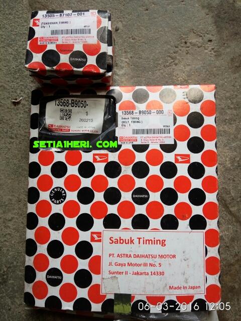 paket Timing Belt dan Tensioner Daihatsu Taruna tahun 2016