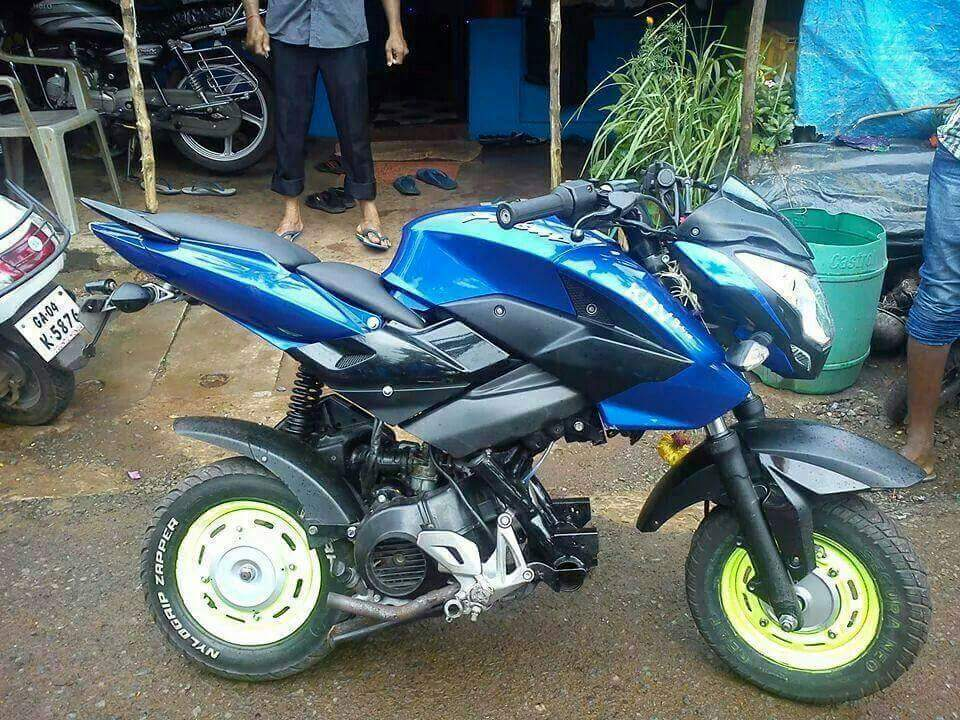 Modifikasi Mesin matic bodi serigala Bajaj Pulsar 200 NS