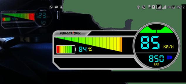 indikator baterai motor listrik gesits
