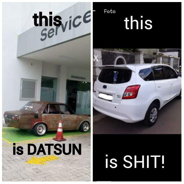 meme mobil datsun ditolak service di bengkel resmi Datsun Nissan Salatiga