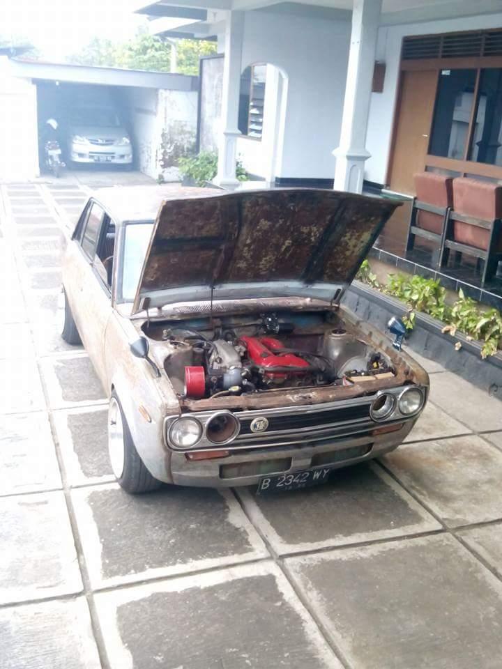 mesin Datsun SR20 aliran Rat Car punya brow Rheza Novick Salatiga