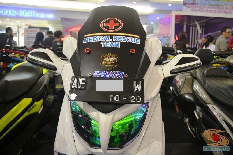 Ragam bentuk windshield, tameng, visor untuk modifikasi Yamaha NMAX (14)