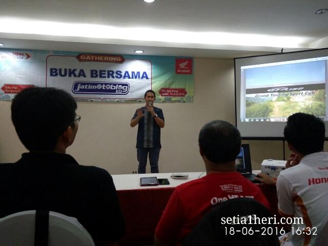 buka bersama pt mpm motor Jawa Timur dengan blogger Jatimotoblog net tahun 2016 di The Sun Hotel Sidoarjo