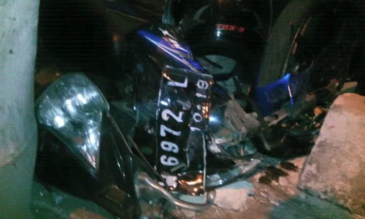 nopol motor matik bu ulfa SMPN 04 Kepanjen Malang korban kecelakaan 12 Juni 2016