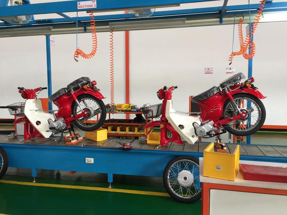 Super cub jadul mirip Honda Pitung dirakit kembali Gazgas