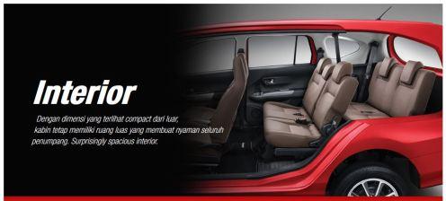 Interior Toyota Calya tahun 2016 tipe G