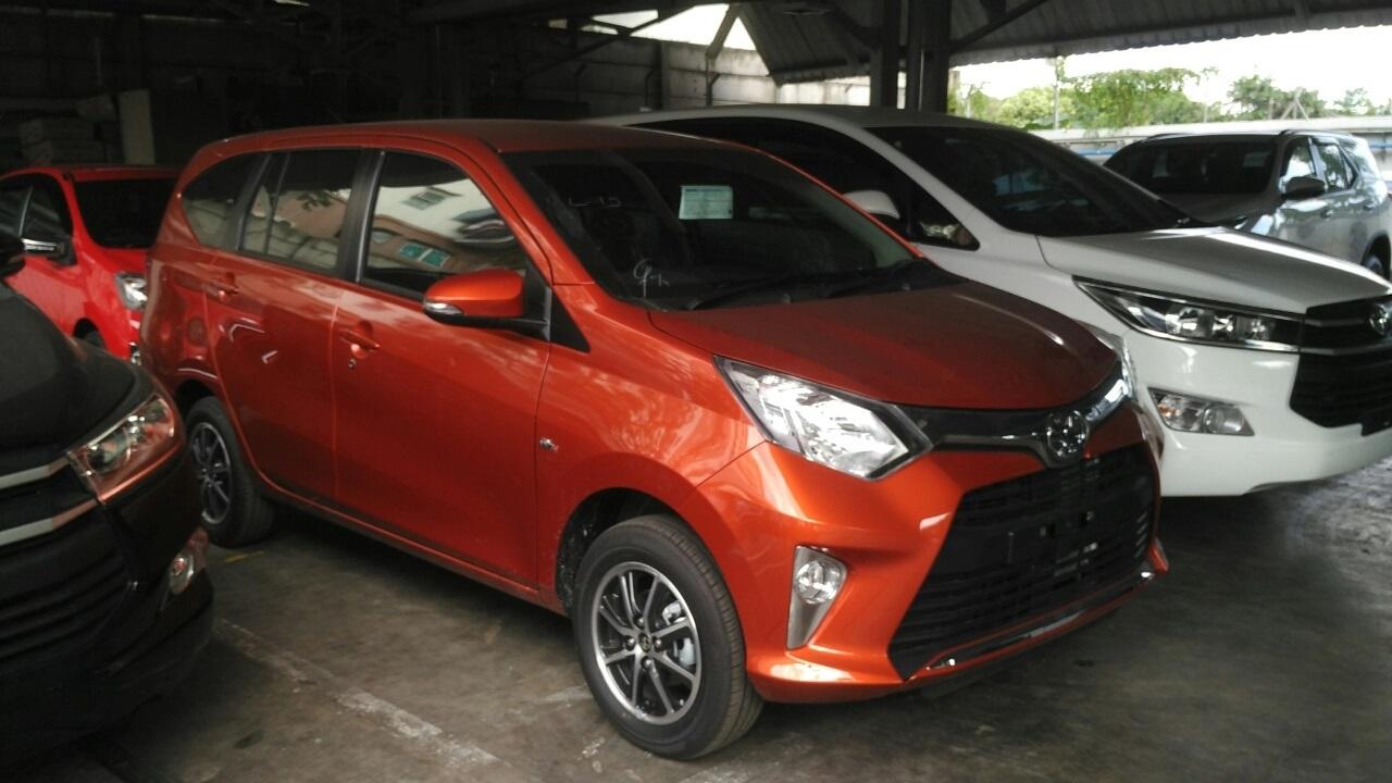 Toyota Calya G MT warna Orange metalic tahun 2016