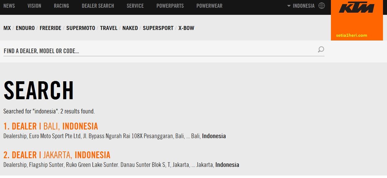 diler resmi motor ktm di indonesia tahun 2016