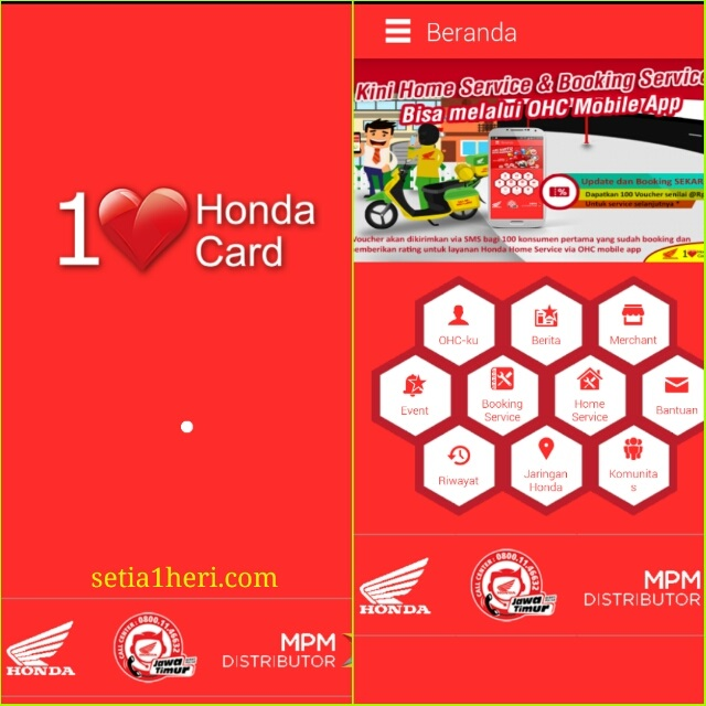 Honda Home Service Via OHC Card Tahun 2016