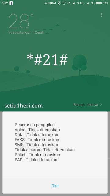 Cara tahu telpon anda di sadap atau tidak via *#21#