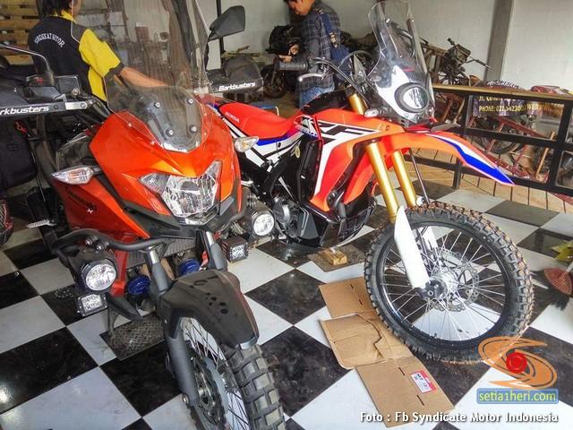 Penampakan Kawasaki Versys X 250 Tourer Dan Honda