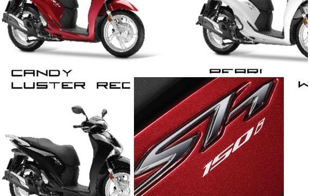 3 pilihan warna skuter premium honda sh150i tahun 2017