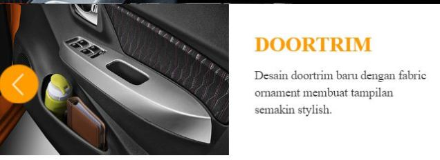 door trim all new daihatsu ayla tahun 2017
