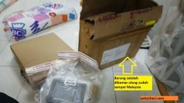 pengalaman pertamax kirim paket aksesoris motor ke malaysia tahun 2017