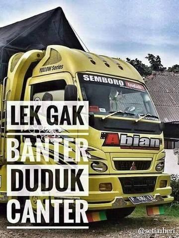 Tulisan kaca samping truck canter yang bikin gerrr.....gerrr....gerrrr