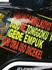 Kumpulan Tulisan kaca samping truck canter yang bikin gerrr.....gerrr... (7)