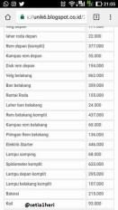 price list harga sparepart vixion buat ganti rugi 7 juta