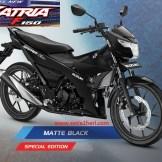 Warna baru Suzuki All New Satria F150 - 2017 - Matte Black Predator