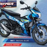 Warna baru Suzuki All New Satria F150 - 2017 - Met Triton Blue Moto GP